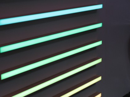 linear led lights in resin RGB colours