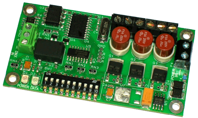 Dmx Mini 3 Channel Led Dimmer Rgb