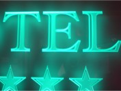 Custom etching and sandblasting close up of edge lit signage decoration done in-house by MegaLED Ltd, London.