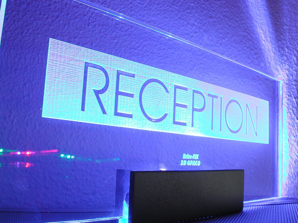 Alt Edge Lit Reception Sign Led Blue
