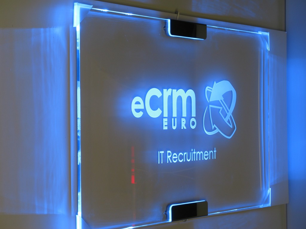 Minimalist Clock Edge Lit Glass Signs And Led Displays