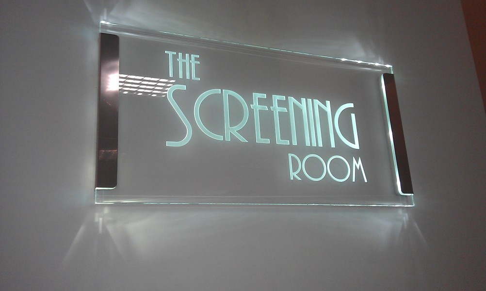 Edge Lit Glass Signs And Led Displays